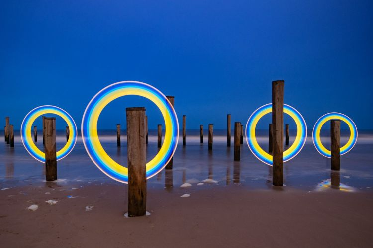 Workshop Lightpainting in Petten