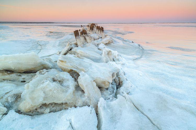 Bevroren Waddenzee; Frozen Wadden Sea